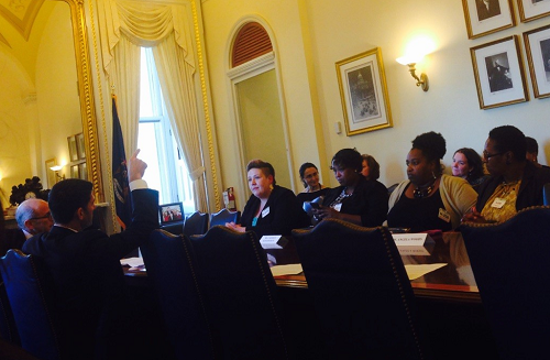 Catholic Charities Clients at the Capitol - TANF Discussion